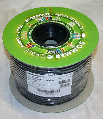 100 m Sommercable DMX Binary 234 AES/EBU,2 x 0,34 mm², schwarz,110 Ohm