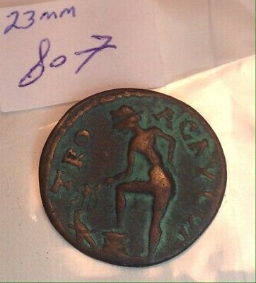 Ancient Roman 23mm Bronze Coin Awesome Coloring And Very Rare In Great Shape!