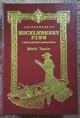 Easton Press 1994 Huckleberry Finn 100 Greatest Leather Bound Collector's Book