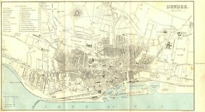 SCOTLAND. Dundee town city plan 1887 old antique vintage map chart