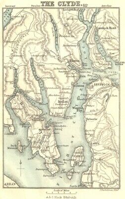 SCOTLAND. The Firth of Clyde 1887 old antique vintage map plan chart