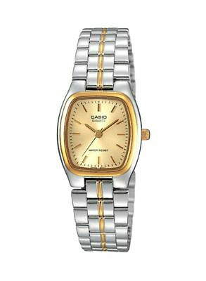 Casio Women's LTP1169D-7A STAINLESS STEEL SILVER/GOLD TONE FASHION ANALOG WATCH