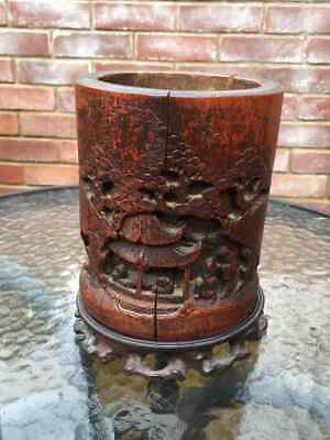 19th century Chinese brush pot