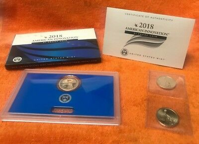 2018 American Innovation 3 Coin Set P-D-S $1 W/coa