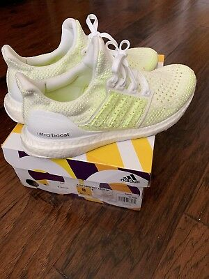 576893af7d3 Adidas Ultra Boost Clima Cool White Solar Yellow Men Size 8 - Preowned