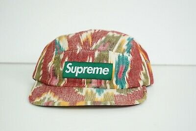 856d31308db 100% AUTHENTIC SUPREME Ikat 5 Panel Camp Hat SS12 -  69.99