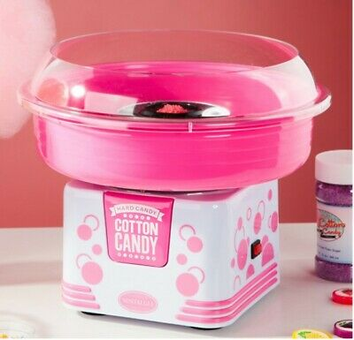 Pink Commercial Household 500W Fairy Floss Maker Electric Cotton Candy Machine