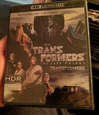 Transformers The Last Knight (Blu-ray + 4K UHD) BRAND NEW!!