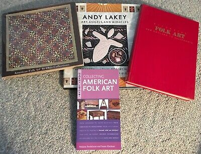 4 FOLK ART Books ~ Ohio Collections, Andy Lakey, New England - CA, Collecting