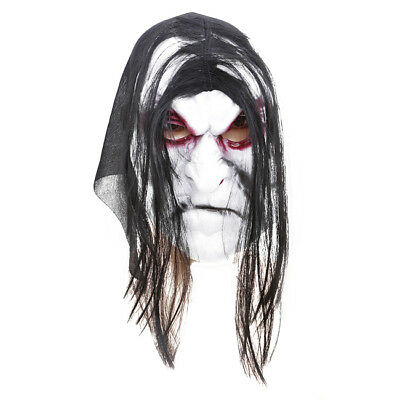 Grudge Mask Prop Ghost Hedging Zombie Realistic Masquerade Halloween Party CB
