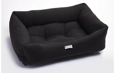 Chilli Dog Bed Black Moleskin Large
