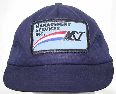 VTG 70s MSI Management Services Inc. Patch Snapback Hat Dallas Cap Made in  USA 272c9b8109e