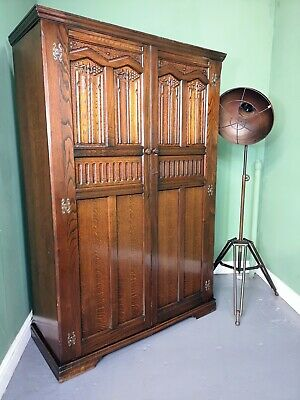 An Antique Old Charm Style Oak Double Wardrobe ~Delivery Available~