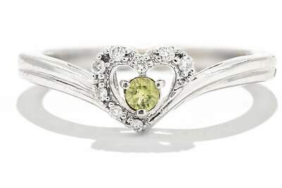 0b53d9166 Adele Diamond 14K White Gold Peridot & Diamond Ring with a Heart Design