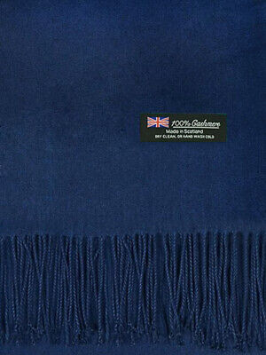 For Womens Blanket 100/% Cashmere Big Scarf Long Shawl Solid Scotland Wool Orchid