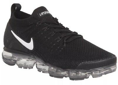 NIKE AIR VAPORMAX Flyknit 2.0 Black   Dark Grey Trainers Uk 8 - EUR ... 2254a7908