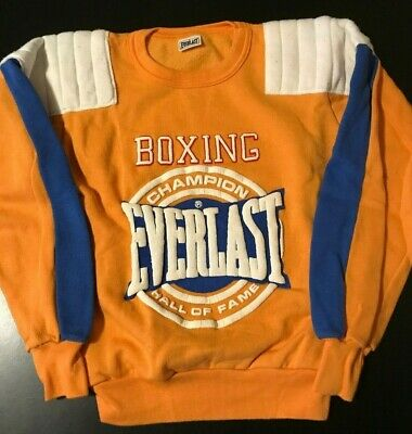 VTG 80s Youth Kids Everlast Boxing Champion Hall Of Fame Sweatshirt Mayweather