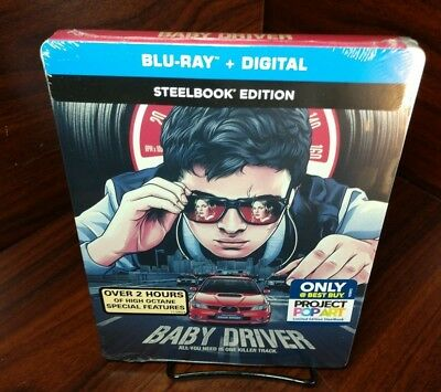 BABY DRIVER Exclusive Steelbook (Blu-ray+Digital) NEW-Free Box S&H with Tracking