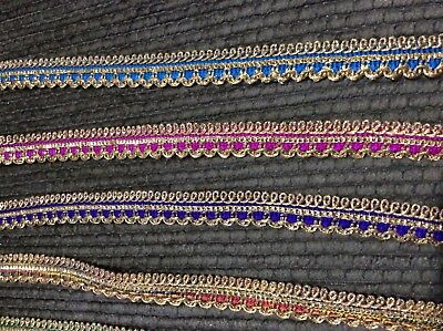 New Gorgeous fancy Sequin ribbon lace trim almost1.5 cm wider just £0.99//meter