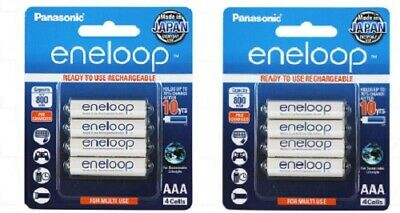 Eneloop AAA NiMH Rechargeable Batteries x 8 - 4th Generation Australian Stock