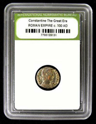 Slabbed Roman Imperial Constantine The Great Era Ancient Bronze Coin c. 330 A.D.
