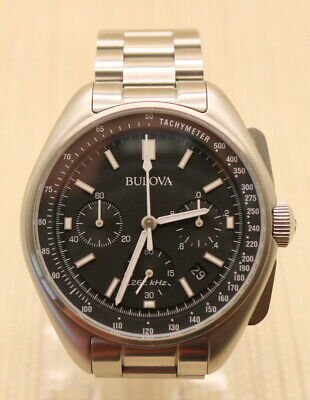 Pre-own Bulova  Special Edition Moon Apollo 15 262Khz Frequency Watch 96B258