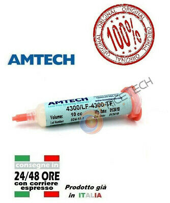 AMTECH LF-4300-TF Water Washable Lead-Free Tacky Solder Flux 10cc ORIGINALE