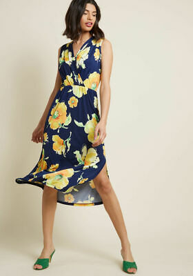 68bfd42fa59a GILLI Sleeveless Floral Knit Midi Dress ModCloth Travel Sprightly Dress  Fits L