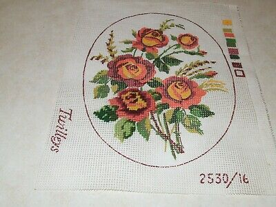 Tapestry Canvas -Twilleys - Roses - Started