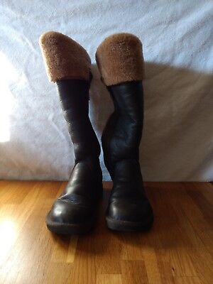 ae66b16a44c UGG LORCANO S/N 5191 Womens Tall Winter Boots Side Zipper Brown Sz 6  Authentic