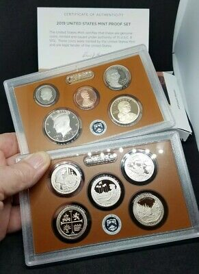 2019 S US Mint Proof Set clad 10-coin 19RG 10 coins with box and COA