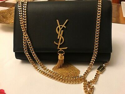 f6771589946 Authentic YSL Yves Saint Laurent Medium Classic Kate Tassel Black with Dust  Bag