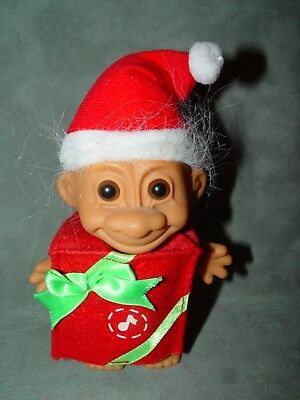 """Troll Doll 4 1/2"""" Russ Christmas Musicial Package Working"""
