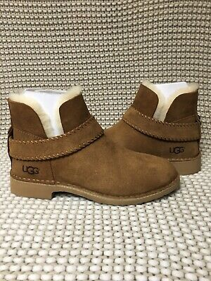 ce40820cde2 UGG MCKAY CHESTNUT Suede Shearling Ankle Boots Us 8/ Eu 39 / Uk 6.5 ...