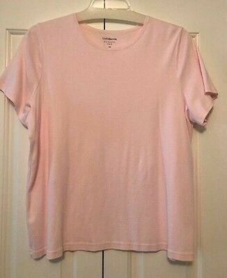 a84f7f6f667eb Croft   Barrow Classic Tee Shirt Pink Short Sleeve Womans Plus Size 2X Top