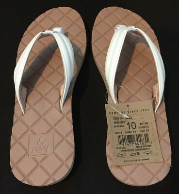698a6d50c73b Reef Womens Sandals Star Dreams II Faux Leather Quilted Flip Flops Shoe  Size 10