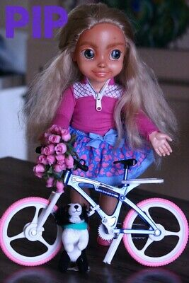 OOAK Repainted Articulated Doll & Bicycle | Kindred Spirit Deluxe Doll | Pip