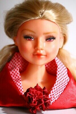 OOAK Repainted Styling Head Doll | Queen of Hearts
