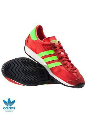 watch 3fd4f bf8f0 Adidas Originals Country Og Mens Trainers RedGreen UK 10 BRAND NEW