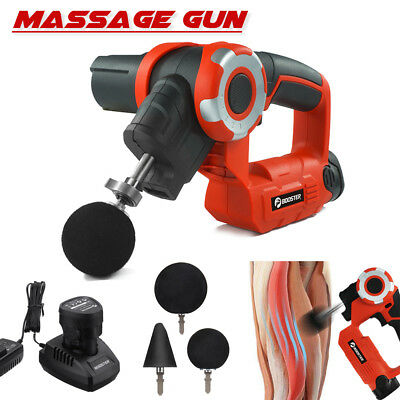 Professional Therapy Massager Gun Muscles Vibrating Relaxing 2 Li-ion Battery AU