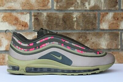 MEN'S NIKE AIR Max 97 Ultra '17 C Pink Camo Green Olive Beige Size 11 AH9946 201