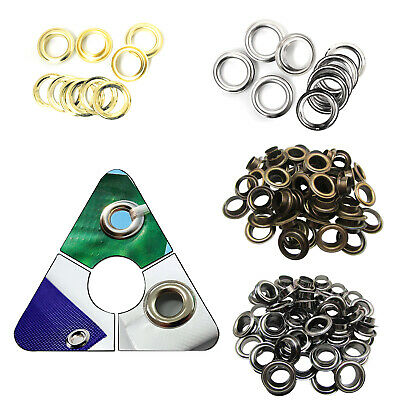 14mm - 20mm Brass Rust Proof Grommet Eyelets with Washers DIY Pool Cover Banners