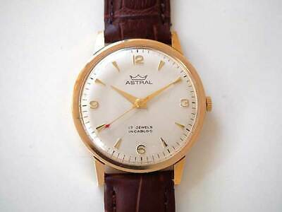 Smiths Astral 9K Gold 17Jewels around 1975 Vintage Mechanical Hand winding Watch