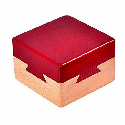 Impossible Dovetail Box Mini 3D Brain Teaser Wooden Magic Drawers Gift Jewelery