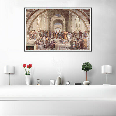 The School of Athens Canvas Oil Painting Poster Unframed Living Room Wall Decor