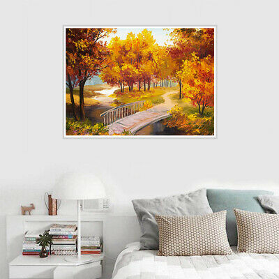 Park View Canvas Art Oil Painting Poster Unframed Living Room Home Wall Decor