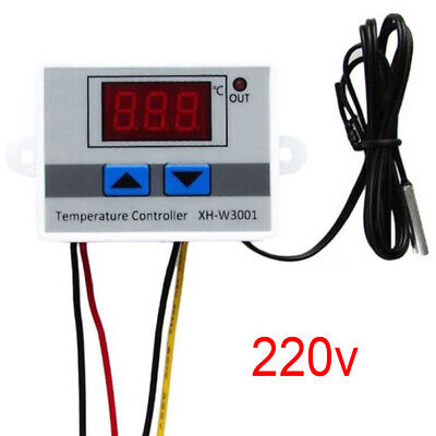 Digital LED Utility Temperature Controller 10A Thermostat Control Switch Probe