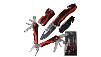 MTech USA Stainless Steel Folding Rescue Knife and 18 Function Multi Tool Set