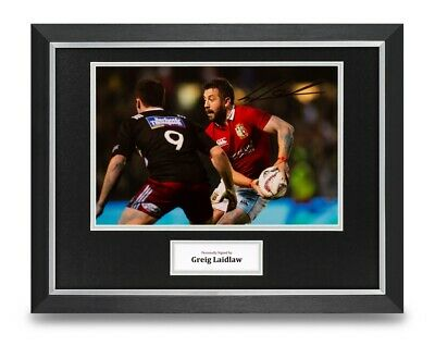 Greig Laidlaw Signed 16x12 Framed Photo Display Rugby Autograph Memorabilia