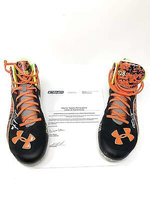 13da033dc69d JD Martinez Boston Red Sox Signed Autograph Game Used Under Armour Cleats  Inscri